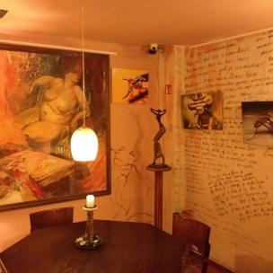 Hotel restaurant - artworks galore