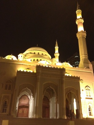 A mosque along Sharjah waterfront