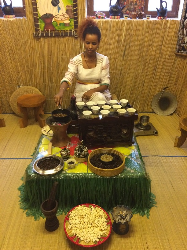 Gaining an education at the coffee museum, beginning in Ethiopia