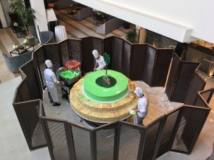 Constructing Saudi's largest cake is no small task