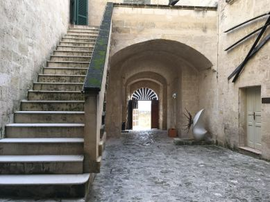 Inside the entrance of the Museum of Contemporary Sculpture Matera (MUSMA)