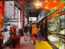 Exploring the neon-lit alleys