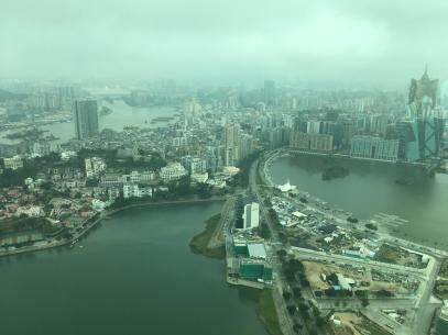 From the observation deck of Macau Tower