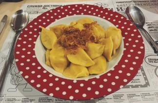 Savory vareniki: packed with potato and sundried tomatoes